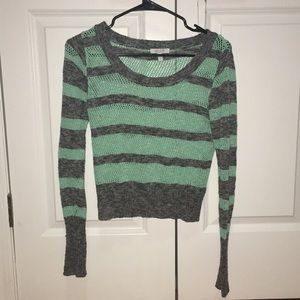 Delias Knitted Long Sleeved Cropped Sweater